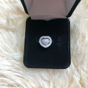 Steeling liver diamond love avon ring sz 5